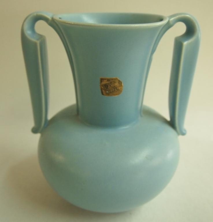 4: Art Deco Pottery Vase with Handle by Stangl