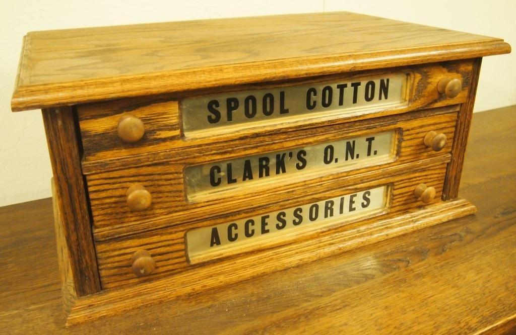 Reproduction Oak Spool Cabinet