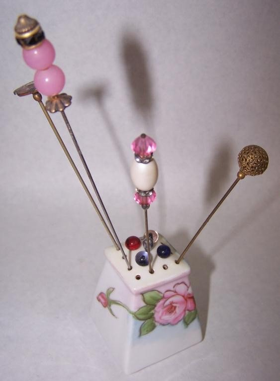 5: Hat Pin Holder & Pins Marked