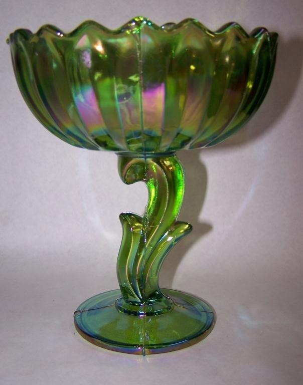14: Carnival Glass Candy Dish