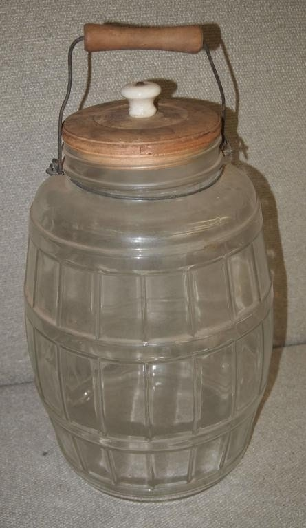 20: Large Country Store Pickle Jar