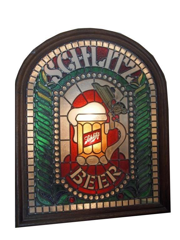 163: Schlitz Light Up Beer Sign