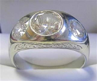 65: Men's Diamond Ring