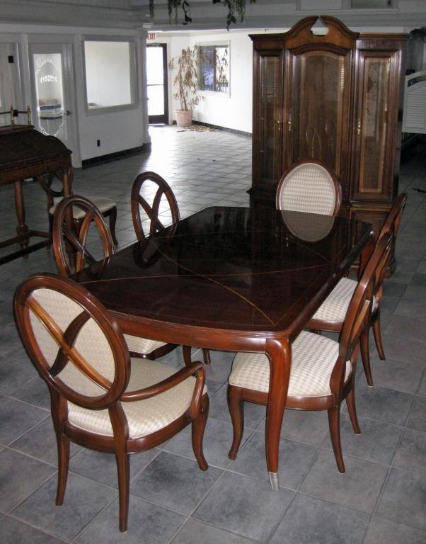 184: 10 Pc. Antique Style Walnut Dining Set