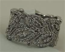 148: Gabriel & Co.14k White Gold Diamond Ring