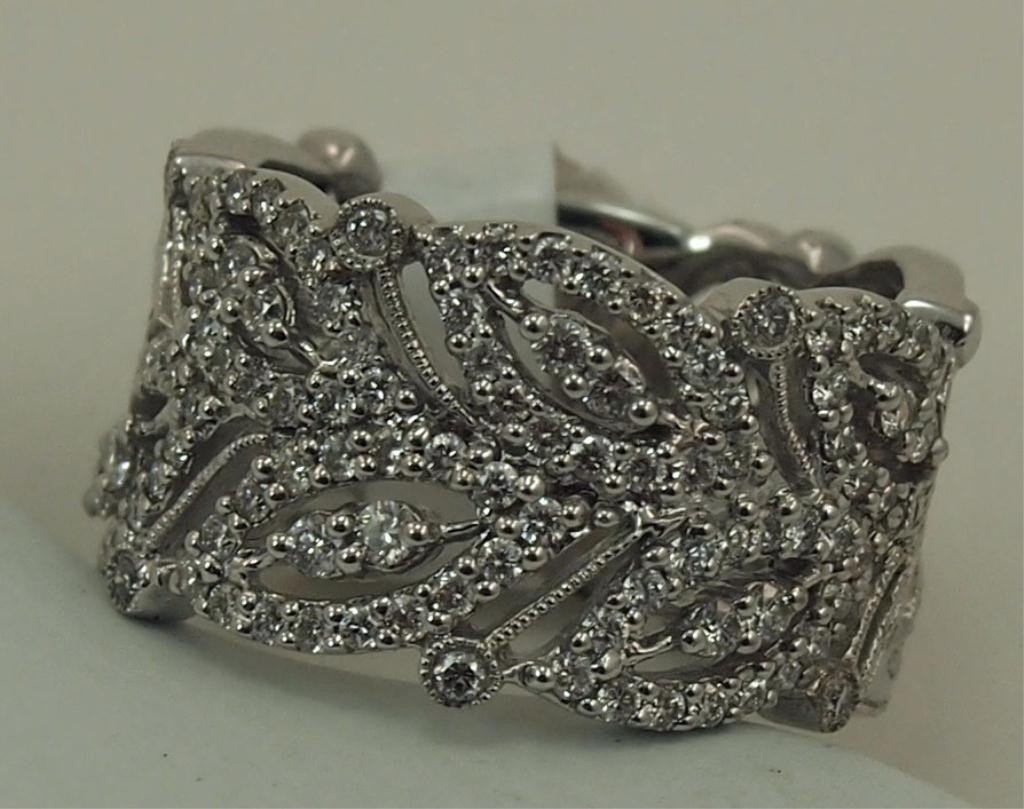 148: Gabriel & Co.14k White Gold Diamond Ring