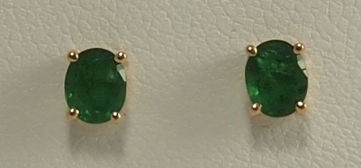 8: Round Emerald Earrings