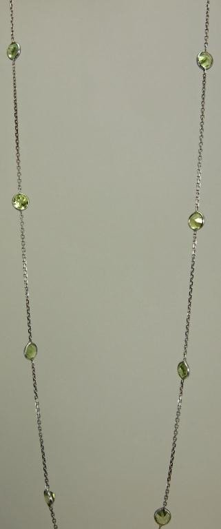 11: 14k White Gold Necklace