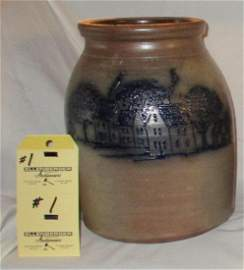 Beaumont Pottery - Crock         Village Scene - York