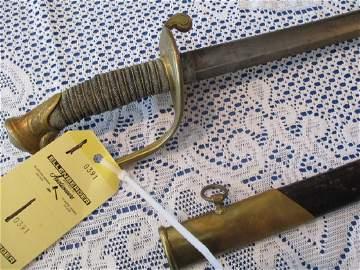 """1850 Circa"" American Officers Sword, Light Engraving,"