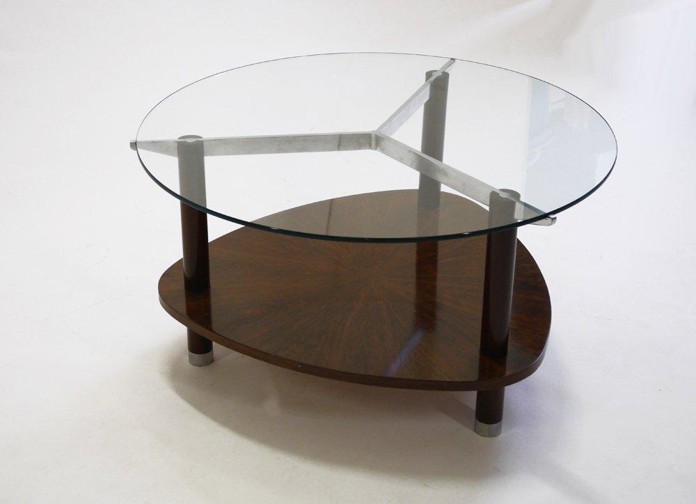 Jules Leleu, Coffee table with tripod base, c. 1930