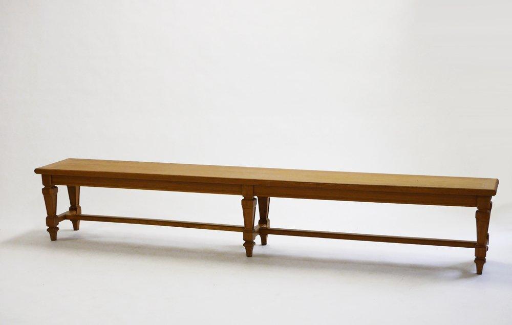 Andre Arbus, Oak bench, c. 1940