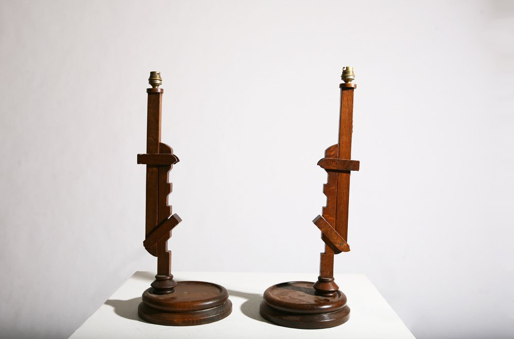 In the style of Pierre Chareau, Pair of table lamps - 2