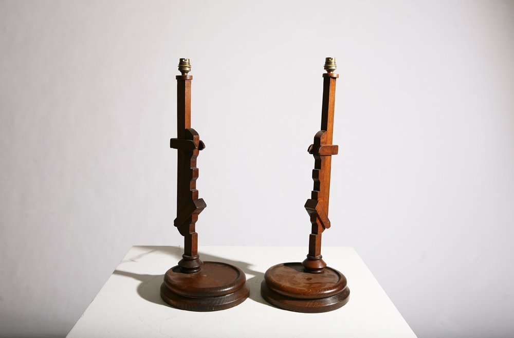In the style of Pierre Chareau, Pair of table lamps - 3