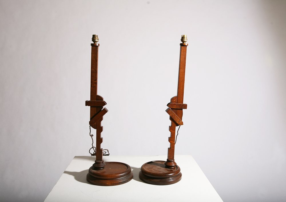 In the style of Pierre Chareau, Pair of table lamps - 5