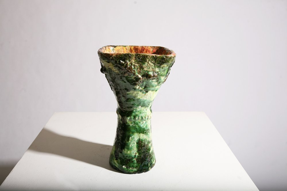 Accolay, Green ceramic vase, c. 1960 - 2