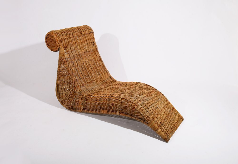 French 1950, Cane lounge chair , c. 1950 - 3