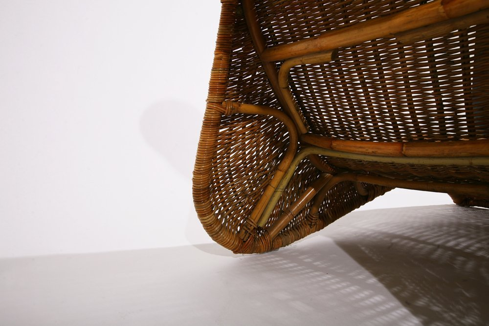 French 1950, Cane lounge chair , c. 1950 - 5