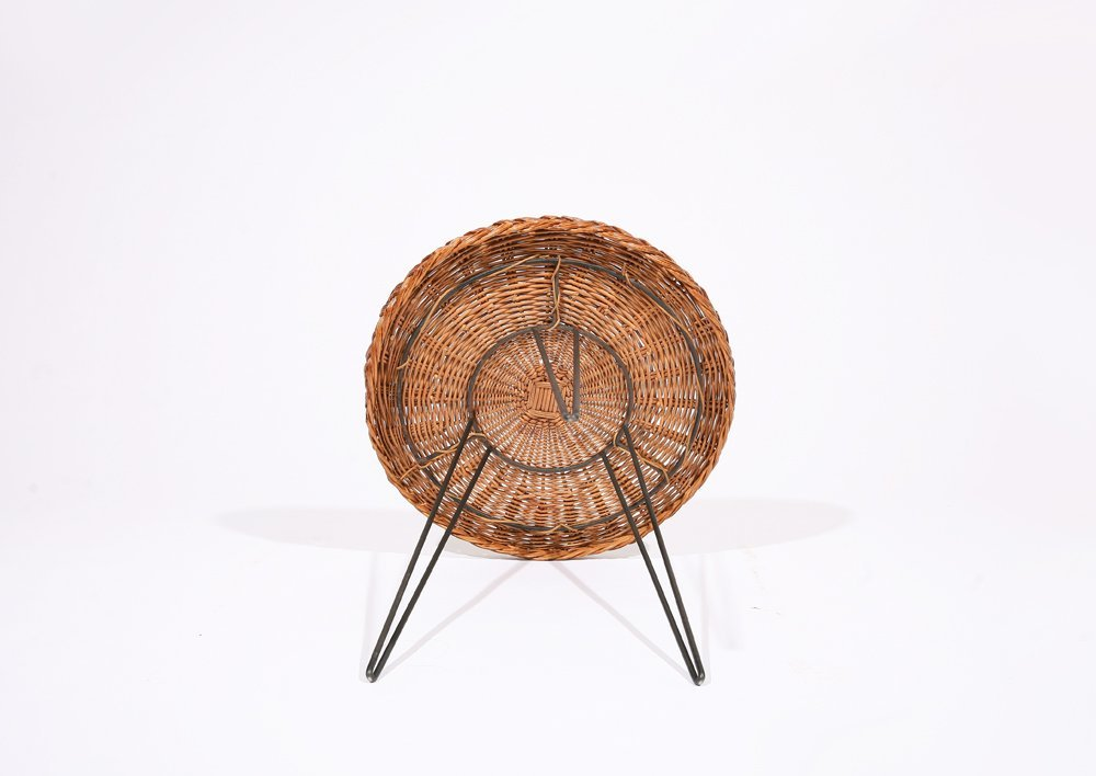 French 1950, Rattan Small Table, c. 1950 - 7