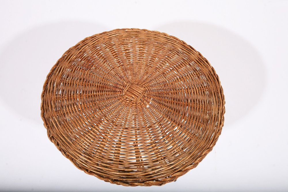 French 1950, Rattan Small Table, c. 1950 - 8