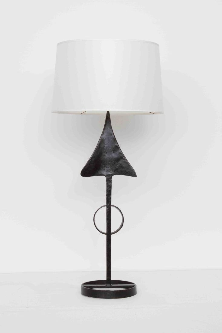 In the style of Leopold Gest, Iron arrow lamp, c. 1960
