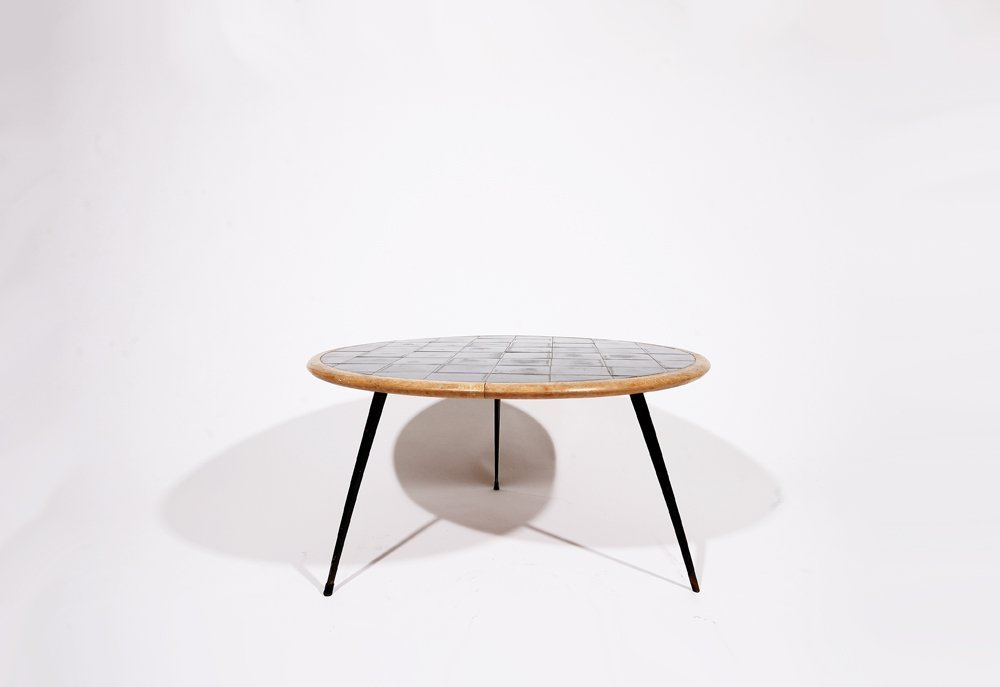 French 1960, Rounded coffee table, c. 1960