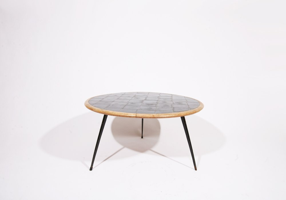 French 1960, Rounded coffee table, c. 1960 - 2