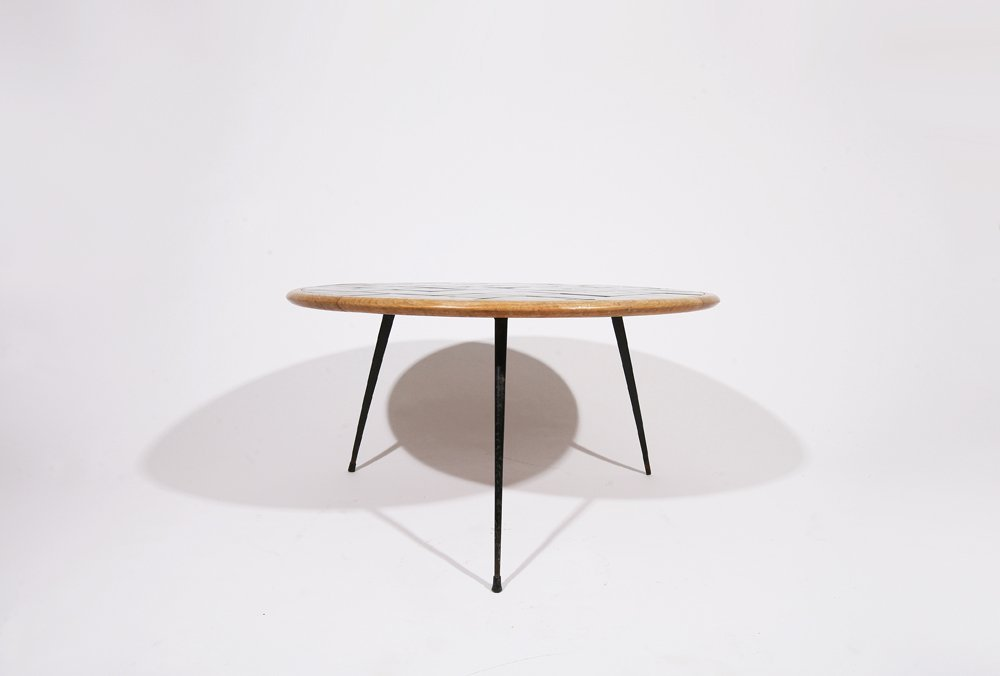 French 1960, Rounded coffee table, c. 1960 - 3