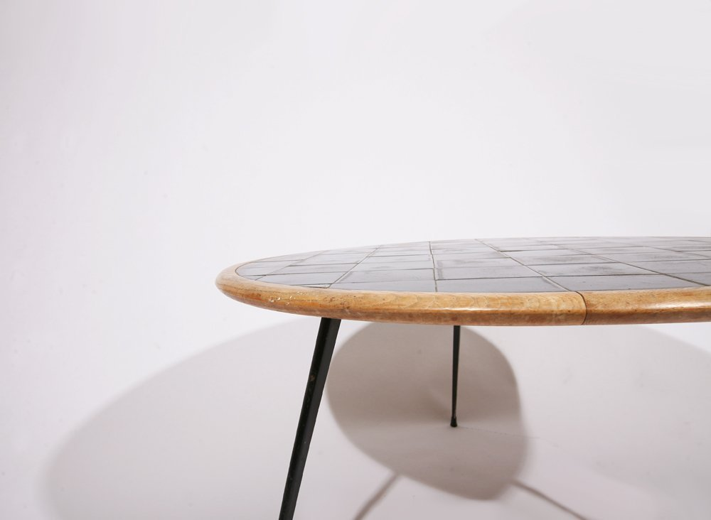 French 1960, Rounded coffee table, c. 1960 - 5
