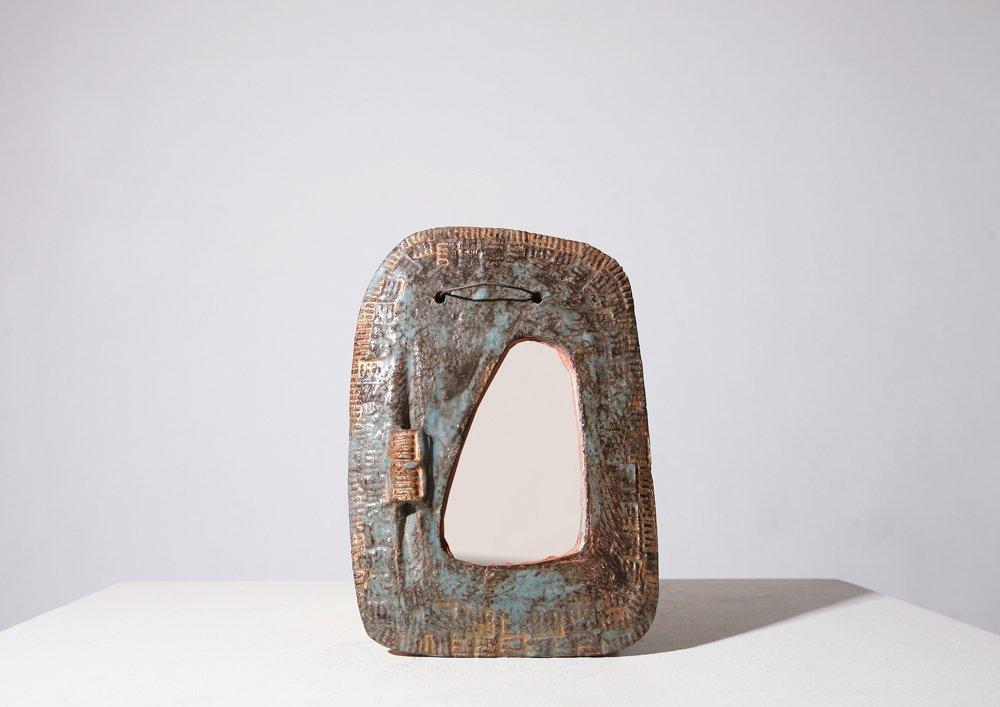 Juliette Derel, Ceramic mirror, c. 1950