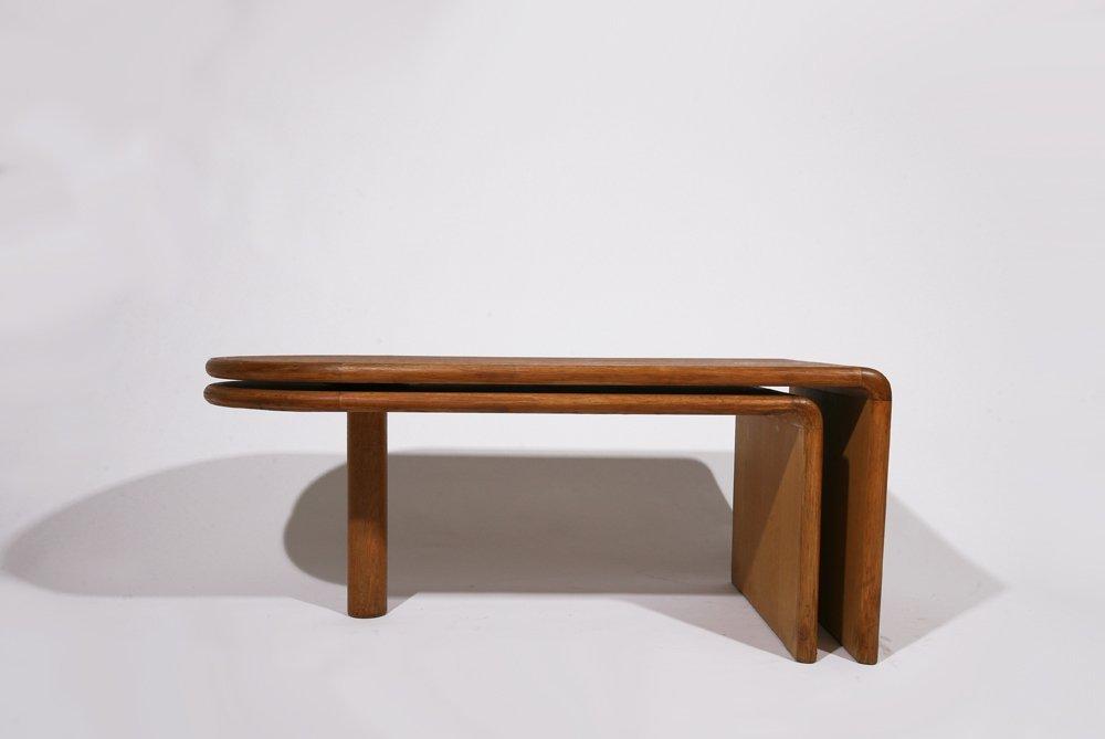 "Guillerme et Chambron, ""Fanette"" foldable wooden coffee"