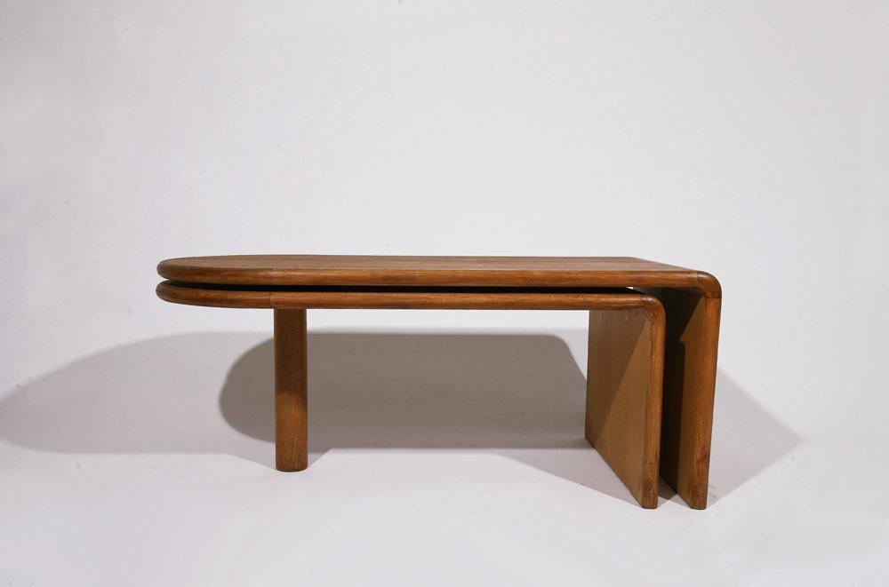 "Guillerme et Chambron, ""Fanette"" foldable wooden coffee - 2"