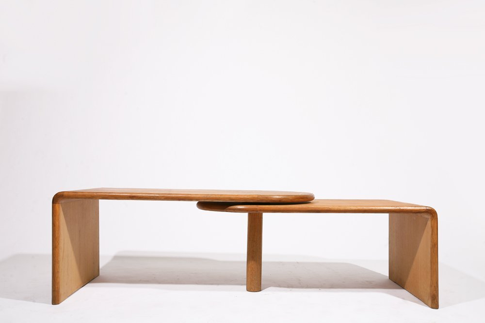 "Guillerme et Chambron, ""Fanette"" foldable wooden coffee - 4"