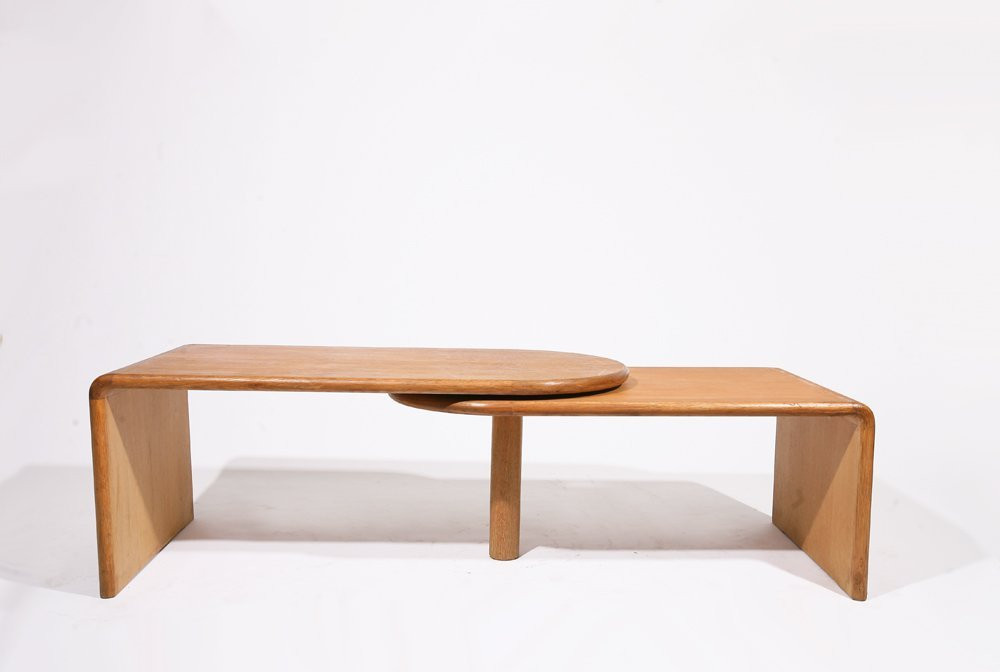 "Guillerme et Chambron, ""Fanette"" foldable wooden coffee - 5"