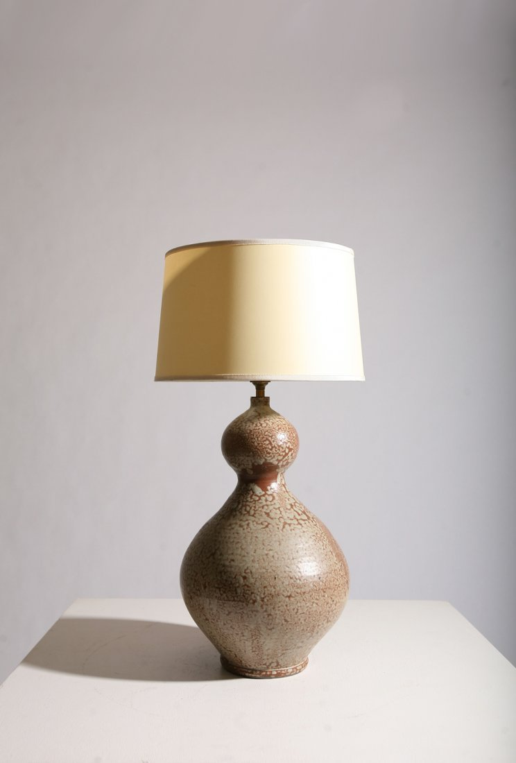 French 1950, Ceramic table lamp, circa 1950.
