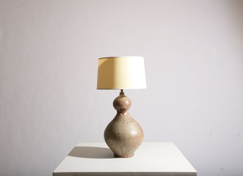 French 1950, Ceramic table lamp, circa 1950. - 2