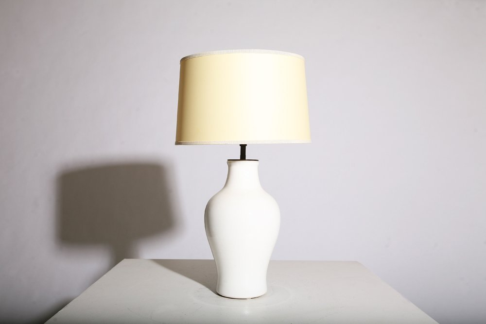 Pol Chambost, Ceramic table lamp, circa 1950.
