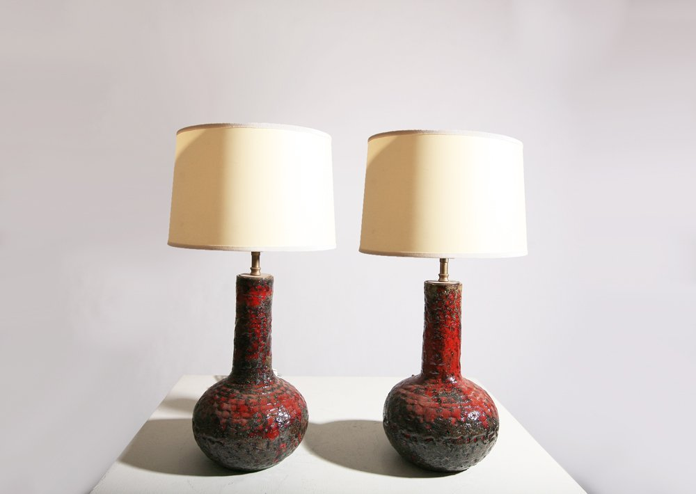 French 1960, pair of table lamps, circa 1960.
