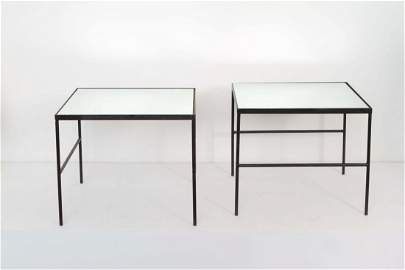 French 1950 - Pair of mirror coffee table, circa 1950