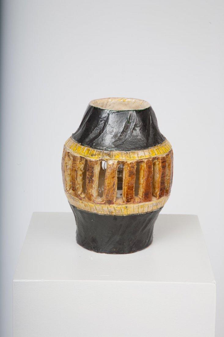 French 1960 - Ceramic table lamp, c. 1960