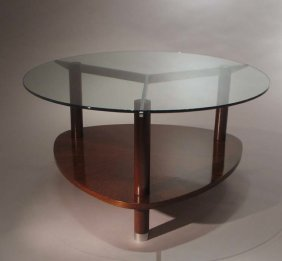 Jules Leleu - Coffee Table With Tripod Base, Circa 1930