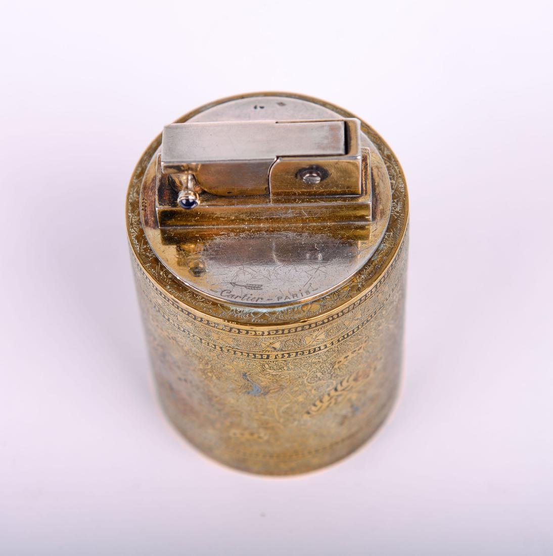 Cartier Paris Lighter with Persian Motif - 5