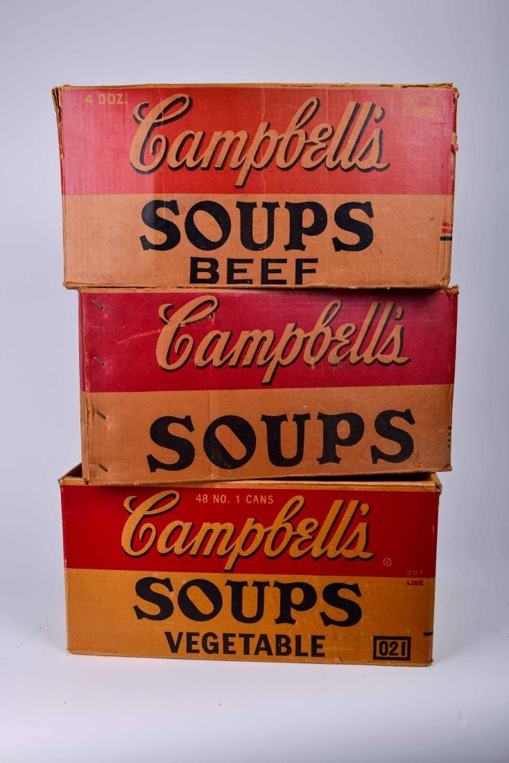 Andy Warhol Era Cambells soup boxes