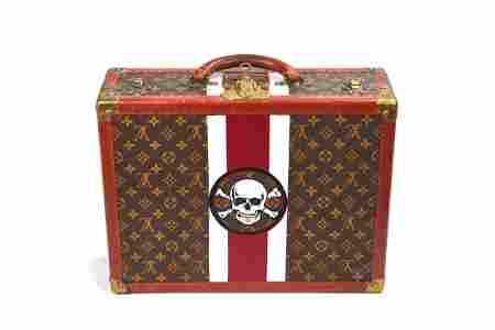 Louis Vuitton Handpainted Suitcase