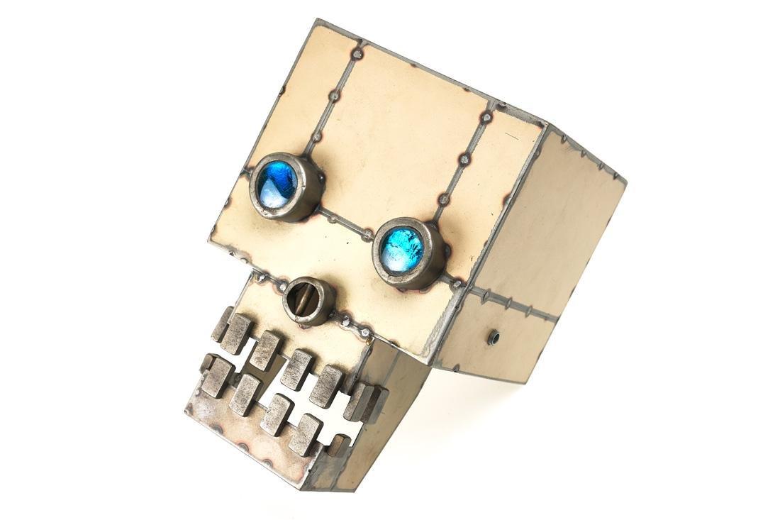 Folk Art Robotic Head