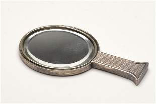 Hermes Sterling Silver Hand Mirror