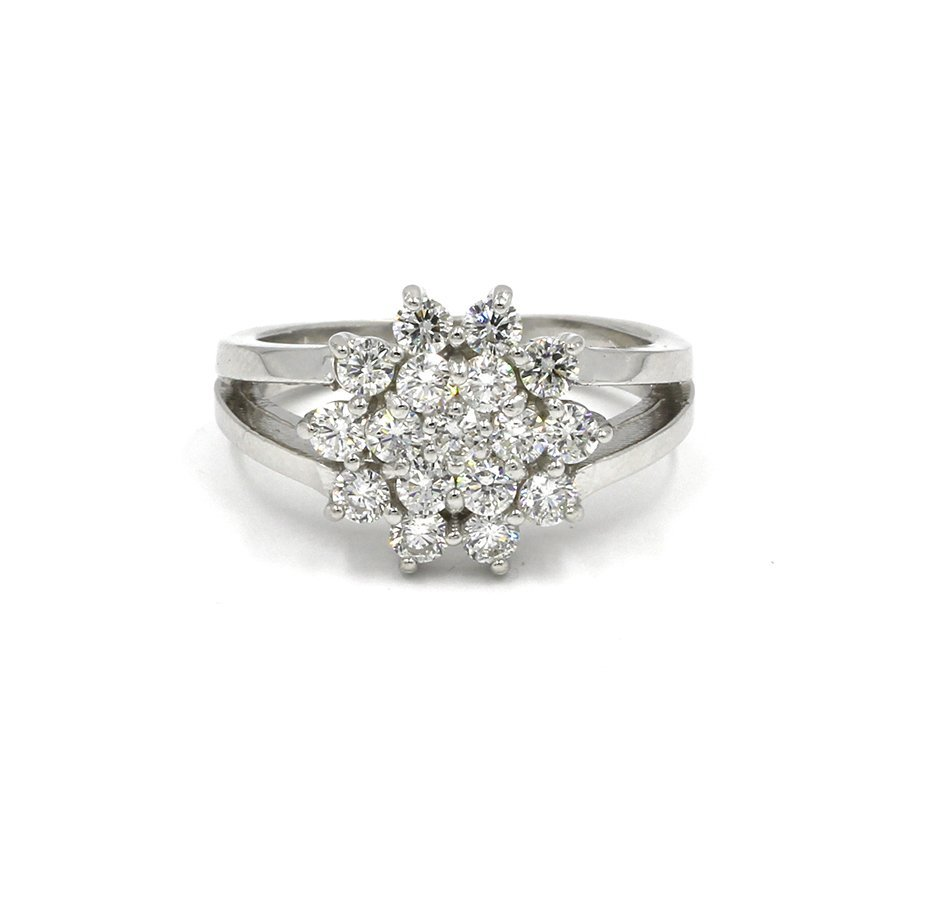 Round Cut Diamond Woman's Cluster Band Ring