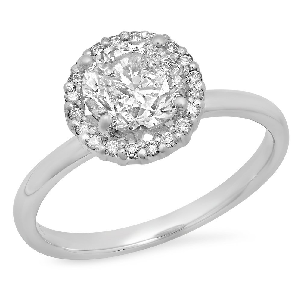 1.51 Ct. Round Cut Diamond Engagement Ring / Wedding