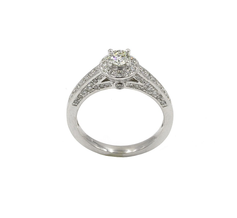 0.88 Carat Round Cut Diamond Engagement Solitaire