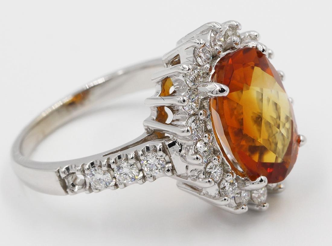 4.25 Carat Fancy Oval Cut Madeira Citrine Diamond
